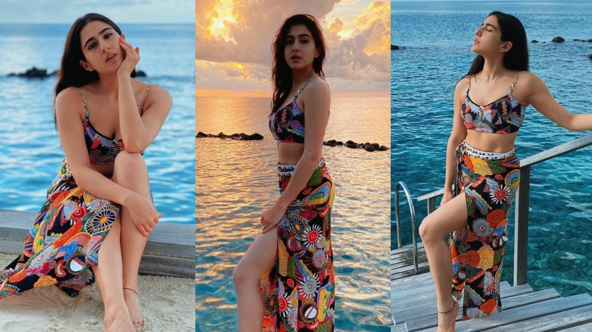 Sara Ali Khan looks stunning in a multicoloured co-ord set in Maldives