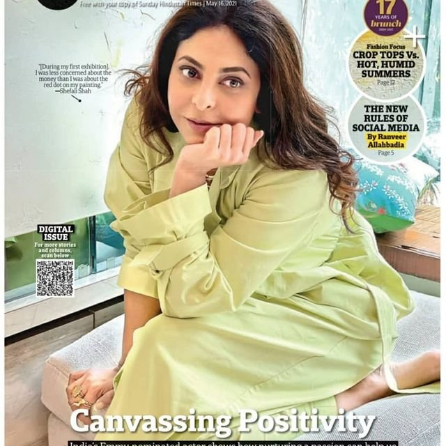 Shefali Shah graces the cover page of HT Brunch