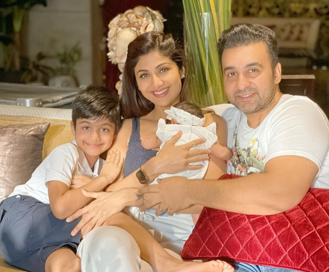 Shilpa Shetty with her baby Samisha