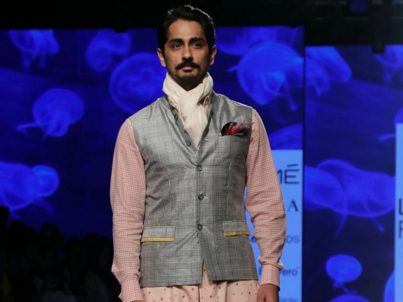 Siddharth at Lakme Fashion Week 2020