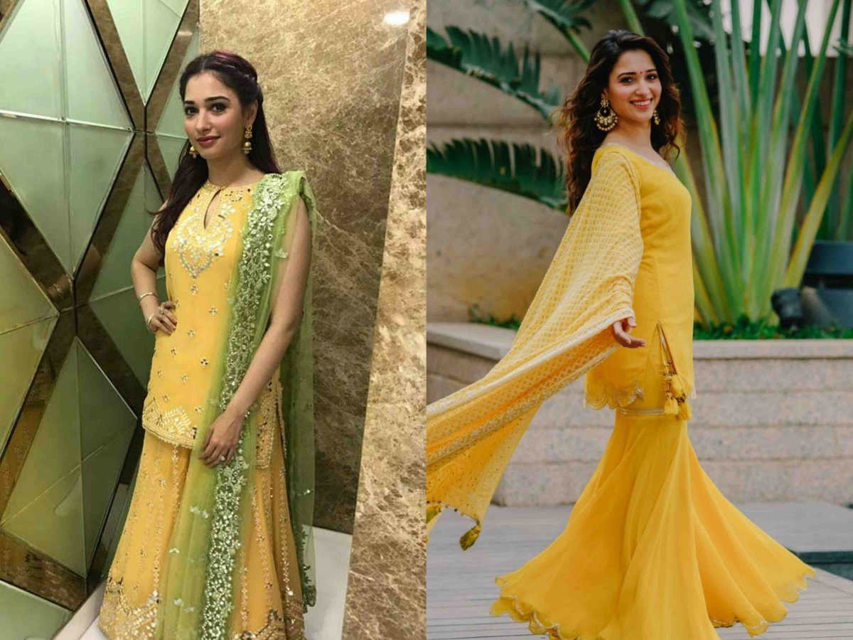 Tamannaah Bhatia Fashion for Basant Panchami