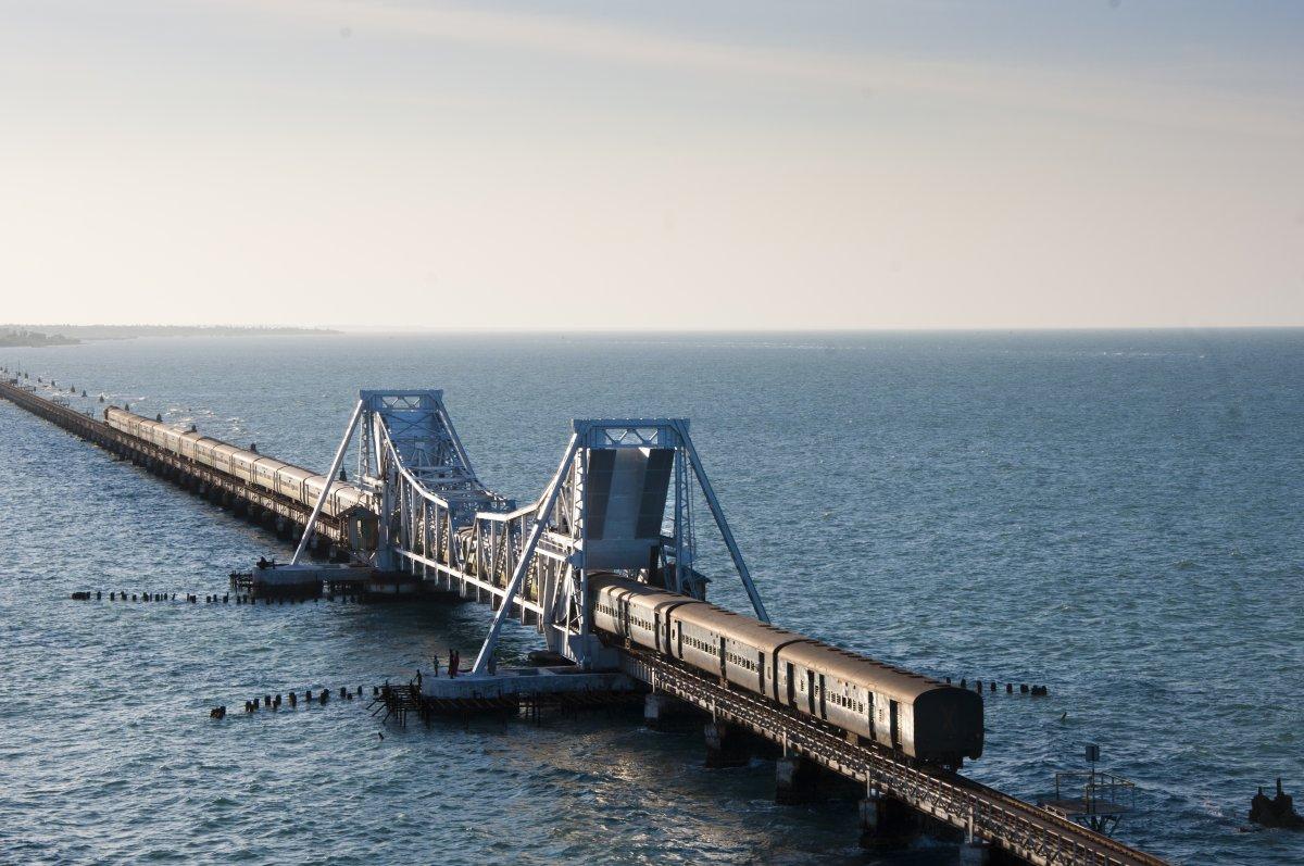 The Sea Bridge Mandapam - Pamban - Rameswaram