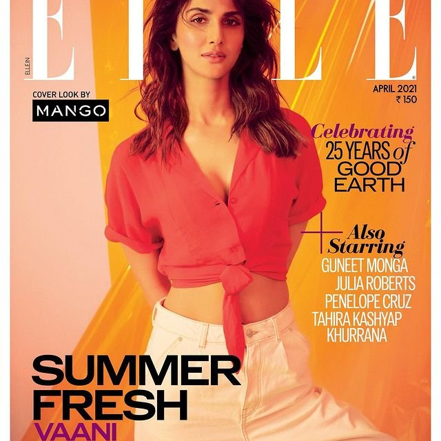 Vaani Kapoor graces the cover page of Elle Magazine