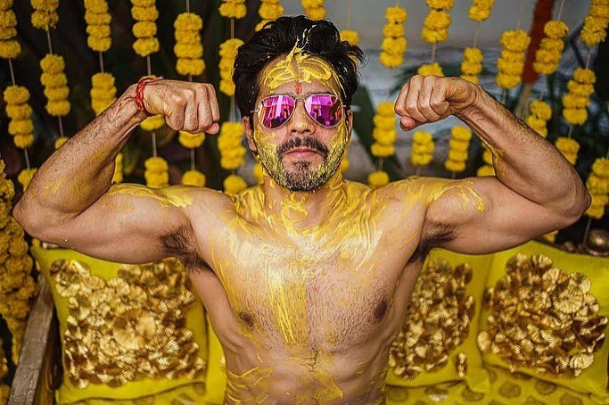 Varun Dhawan shares pictures from haldi ceremony