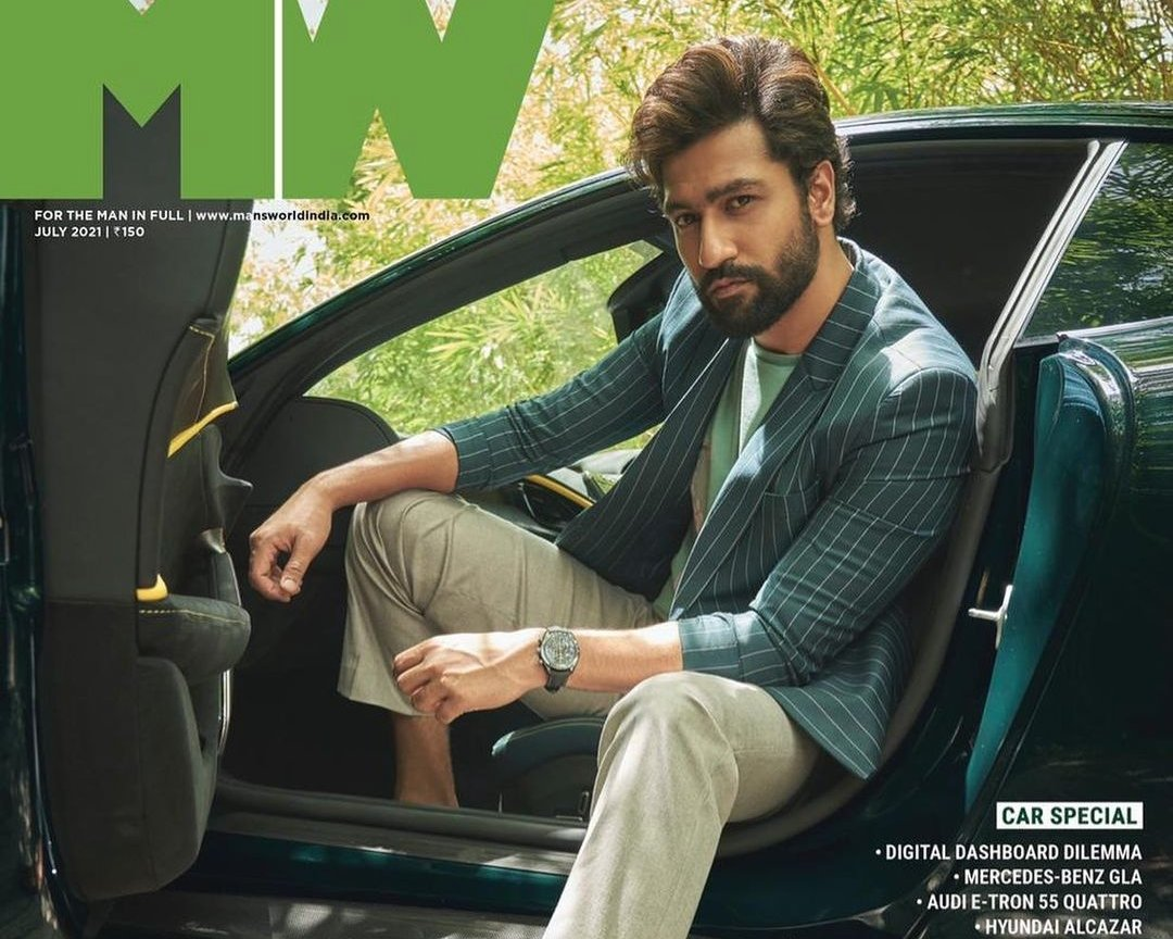 Vicky Kaushal on the cover page of Man's World India Magazine