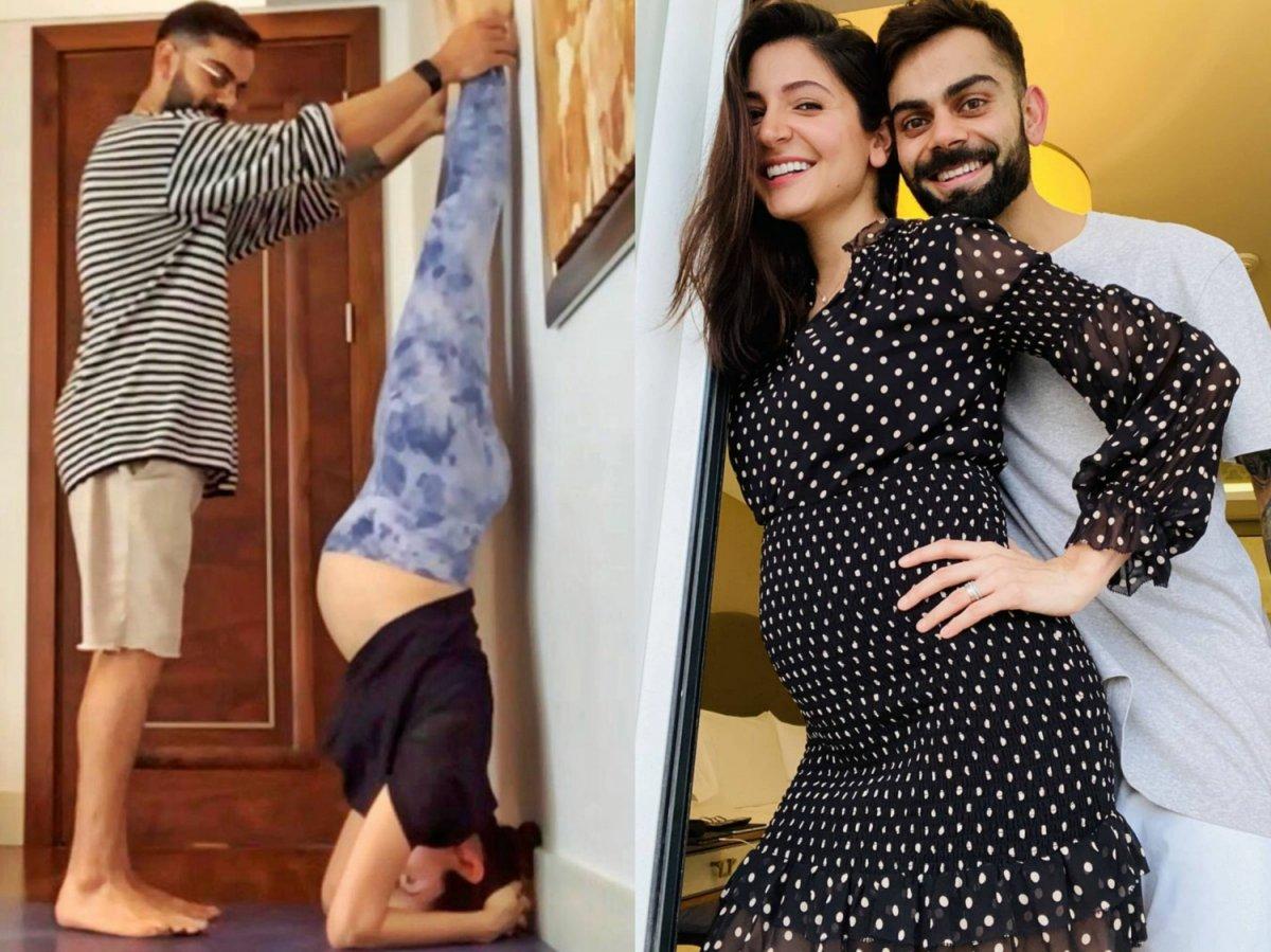 Virat Kohli helps mom-to-be Anushka Sharma do pregnancy yoga