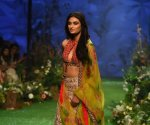 Lakme Fashion Week 2020: Athiya Shetty Looked gorgeous in an exquisite lehenga of designer Mrunali Rao