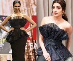 Party Styles: Deepika Padukone & Kajal Aggarwal sizzle in their jet black cocktail dresses. Which one is hotter?