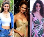 Disha Patani experiments with bold colours and makes the most of it