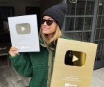 Hailey Bieber gets her silver and gold creators award
