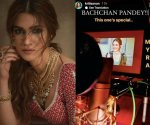 Kriti Sanon shares glimpse of her dubbing for 'Bachchan Pandey'