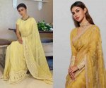 Embrace elegance in Mouni Roy's Vasant Panchami 2020 festive saree looks and be a stunner