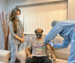 Rajinikanth gets vaccinated for COVID-19