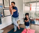Saif Ali Khan and Taimur inspire each other as they practice yoga at home