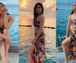 Sara Ali Khan paints Maldives in multi-colours as she soaks in the sun with a clear sea as the backdrop