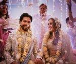 Varun Dhawan shares first image of wedding with Natasha Dalal