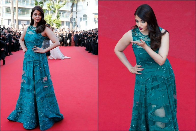 Aishwarya stunned the audiences in the lavender Elie Saab gown