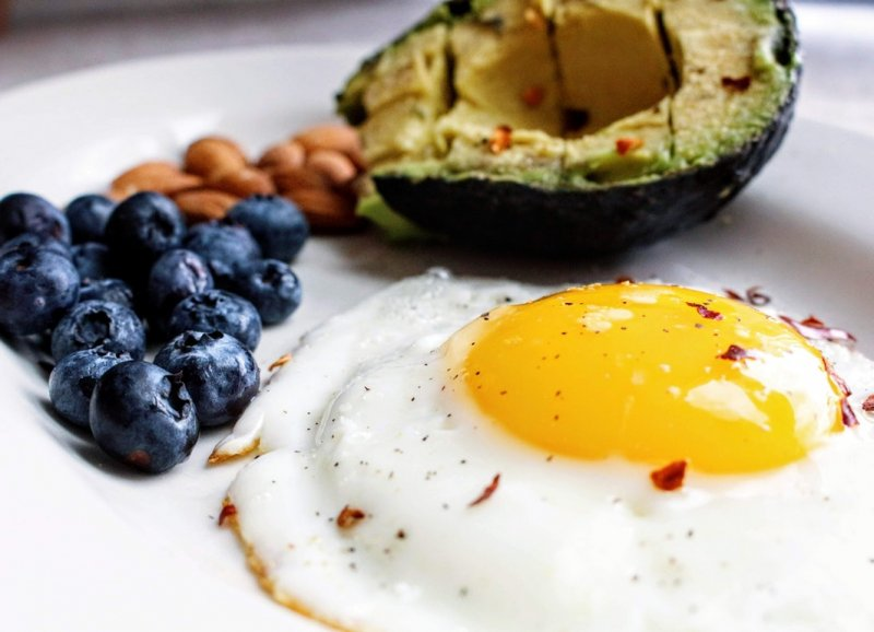 breakfast avocados and eggs
