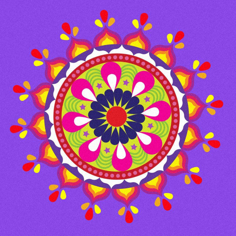 Colourful Rangoli designs to draw at entrance of homes