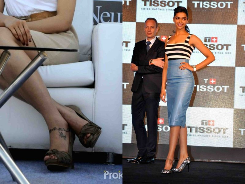Deepika Padukone Tattoo design on ankle
