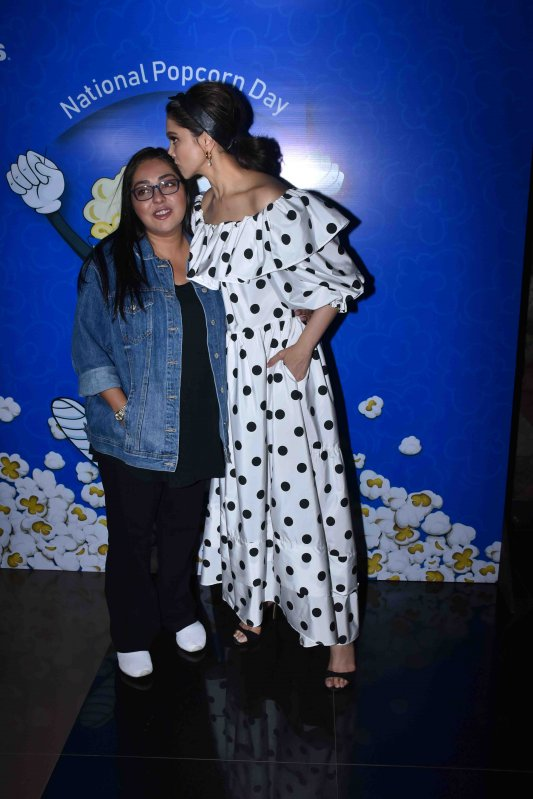 Deepika with Meghna for Chhapaak