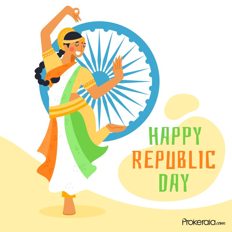 Happy Republic Day greeting cards for social media platforms