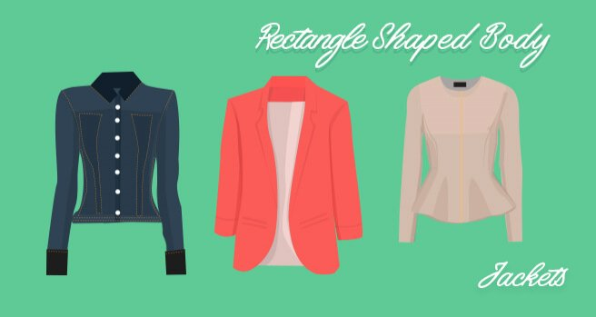 jackets for rectangle shaped body