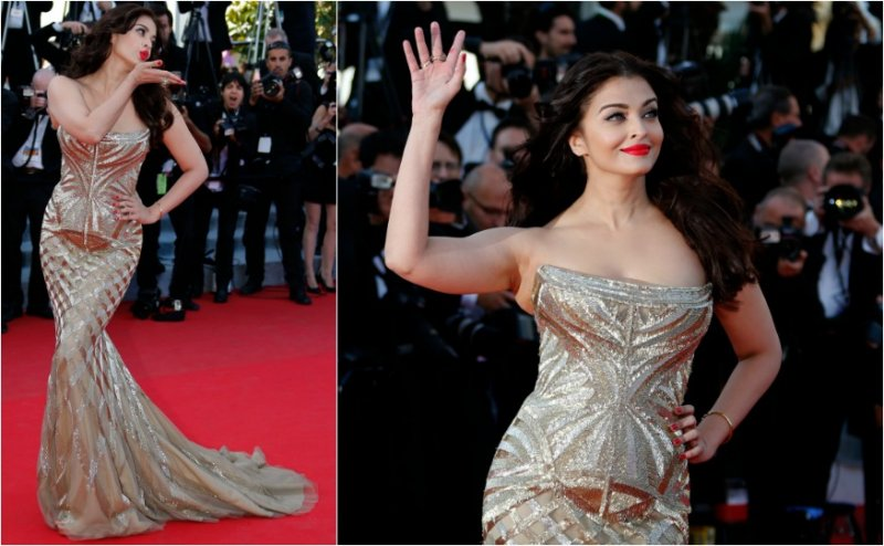 She graced the red carpet with this Roberto Cavalli gown. Gorgeous!