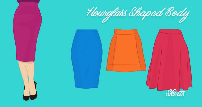 skirts for hourglass shaped body
