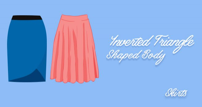 skirts for inverted triangle shaped body