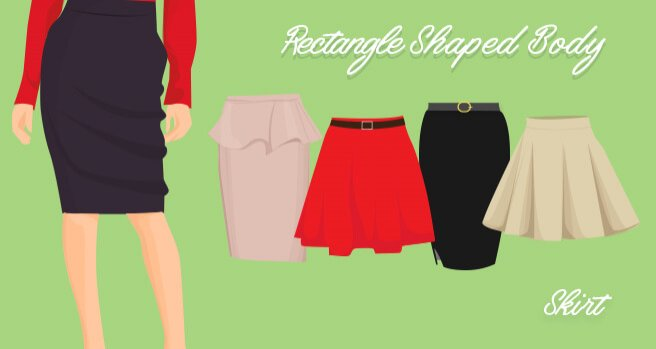 skirts for rectangle shaped body