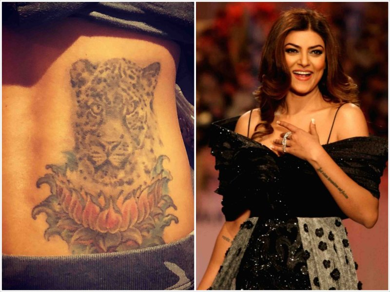 Sushmita reveals her beautiful tattoo design and meaning