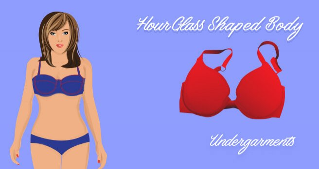 undergarments for hourglass shaped body
