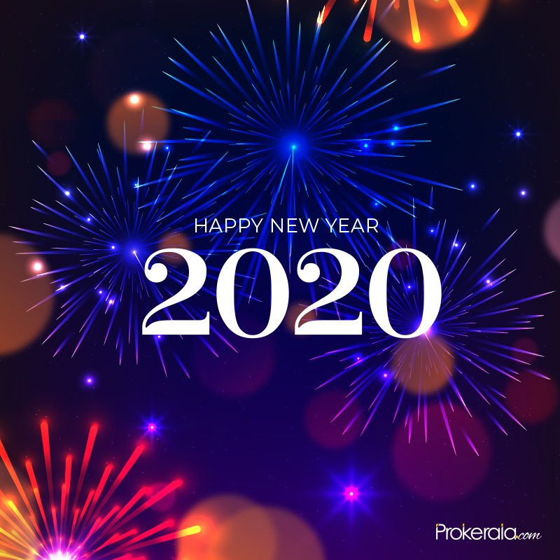 Send 2020 Happy New Year greetings in advance and welcome ...