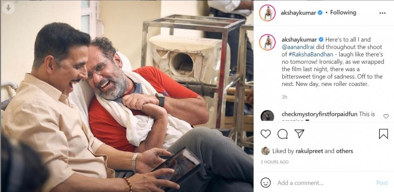 Akshay Kumar wraps up the shoot of Aanand L Rai's 'Raksha Bandhan'