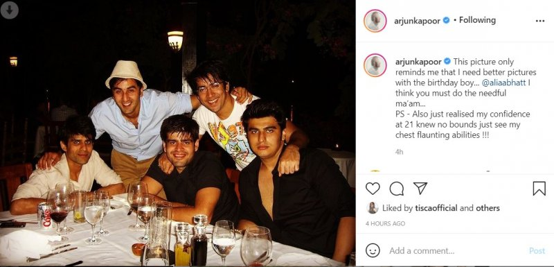 Arjun Kapoor shared an old picture with Ranbir Kapoor