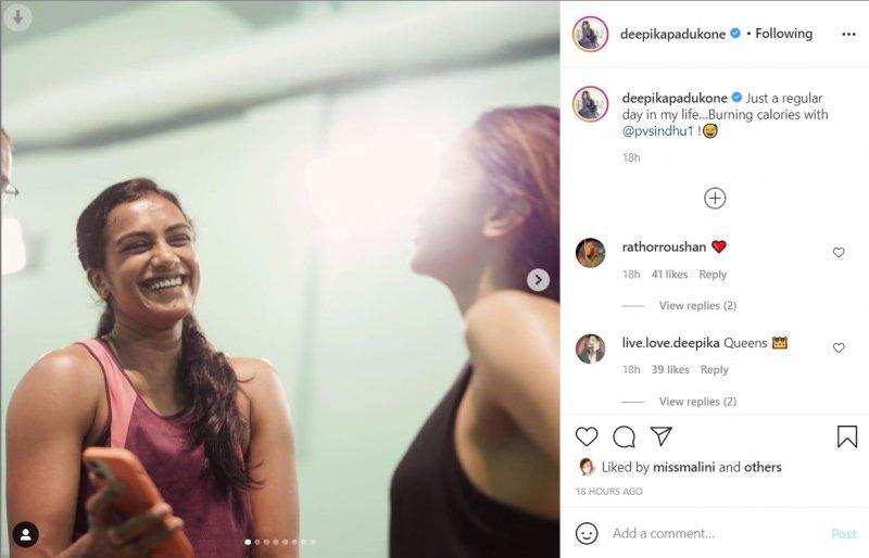 Deepika Padukone plays badminton with PV Sindhu to 'burn calories'