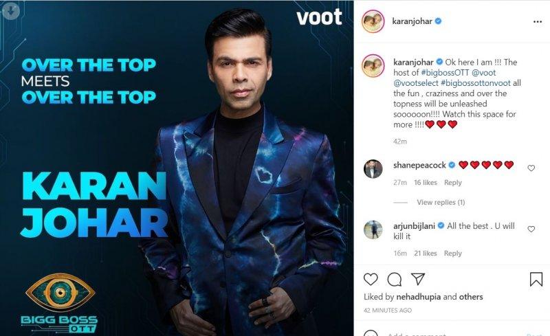 Karan Johar to host Bigg Boss OTT on Voot from Aug 8