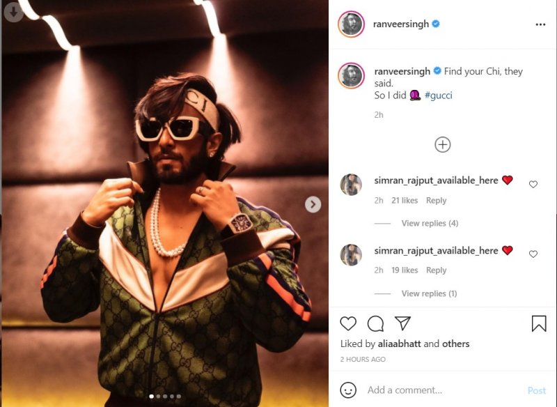 Ranveer Singh shares a series of pictures in his new Gucci tracksuit
