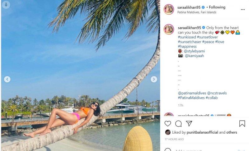 Sara Ali Khan shares mesmerising pics from her Maldive trip