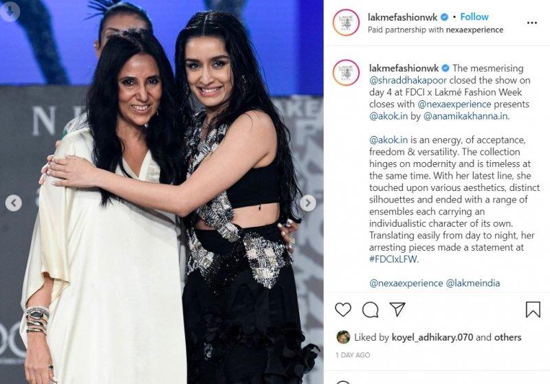 Shraddha Kapoor walked the ramp for designer Anamika Khanna