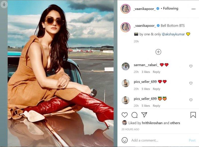 Vaani Kapoor shares BTS photo clicked by Akshay Kumar at BellBottom set
