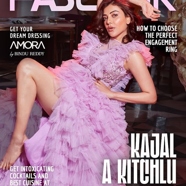 Kajal Aggarwal looks mesmerising on the cover page of Fablook Magazine