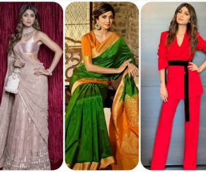 Desi diva Shilpa Shetty Kundra slays in rainbow colour outfits