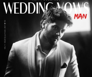 Ali Fazal on the cover page of 'Wedding Vows' magazine August'21 issue