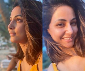 Hina Khan's sun – kissed,