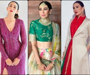 Karisma Kapoor surprises us in a riot of rainbow colours