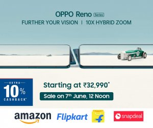 Oppo Reno 10x zoom launched in India, Exciting pre-book and cashback offers