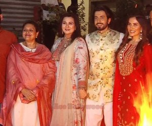 Poonam Dhillon and Supriya Pathak celebrated Lohri with the cast of 'Jai Mummy Di'