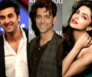 Ranbir Kapoor, Hrithik Roshan and Deepika Padukone